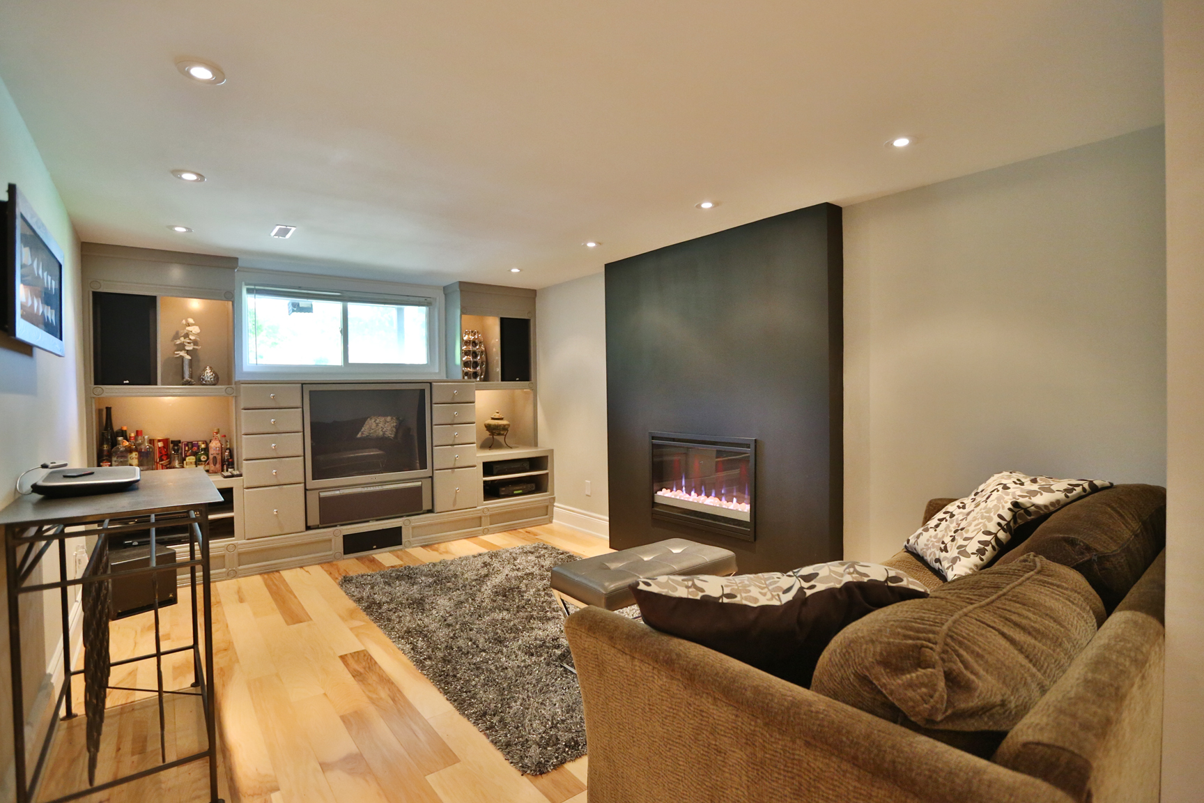 Cabinet Lighting Electric Fire plus Pot Lights & SERVING BURLINGTON AND SURROUNDING AREAS | Great service great staff